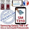 Samsung Galaxy SM-T310 TAB3 N Verre Prémonté Vitre 8 Coller Supérieure à Ecran Tactile Noire PREMIUM en Qualité pouces Assemblée