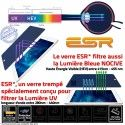 Protection Lumière UV iPad MINI3 Anti-Chocs Ecran Protecteur Anti-Rayures Incassable ESR Verre Vitre Apple Trempé Mini3 Filtre Film Bleue
