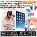 Protection Lumière UV iPad AIR1 AIR ESR Apple Anti Trempé Protecteur Choc Rayure Vitre Incassable Bleue Ecran Verre Trace 1 Film Filtre