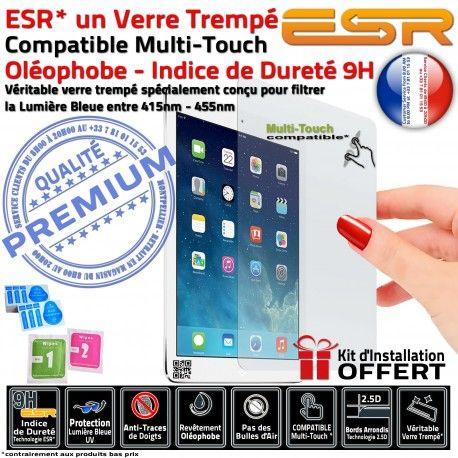 Verre Trempé Apple iPad AIR 1 Bleue Multi-Touch Chocs Oléophobe Protection Filtre Anti Rayures UV Ecran AIR1 Traces Lumière ESR Vitre