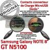 Samsung Galaxy GT-N5100 NOTE C GT de MicroUSB Chargeur Qualité OFFICIELLE Charge N5100 Nappe Doré Réparation Contact Connecteur ORIGINAL