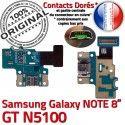 GT-N5100 Micro USB NOTE Charge Connecteur N5100 Galaxy Doré Réparation Samsung OFFICIELLE Qualité ORIGINAL de GT MicroUSB Nappe Contact Chargeur