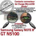 GT-N5100 Micro USB NOTE Charge Qualité Galaxy Doré Contact N5100 Nappe Connecteur OFFICIELLE Samsung Réparation Chargeur de MicroUSB GT ORIGINAL