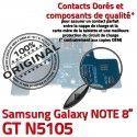Samsung Galaxy NOTE GT-N5105 C Contacts OFFICIELLE USB GT Qualité Nappe Chargeur Charge N5105 de Micro Réparation ORIGINAL Doré Connecteur