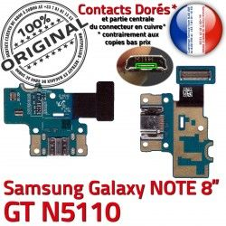 MicroUSB Réparation ORIGINAL Micro N5110 GT Nappe Samsung Charge USB Qualité Galaxy OFFICIELLE Chargeur Contact GT-N5110 de NOTE Doré Connecteur