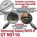 GT-N5110 Micro USB NOTE Charge MicroUSB Réparation de Contact Doré Chargeur Samsung OFFICIELLE Qualité Galaxy ORIGINAL GT Nappe N5110 Connecteur