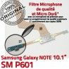 Samsung Galaxy NOTE SM-P601 C Charge de OFFICIELLE P601 Connecteur MicroUSB SM Contacts Chargeur Doré Réparation ORIGINAL Nappe Qualité