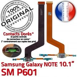Contact OFFICIELLE Réparation Chargeur SM MicroUSB Galaxy Pen Nappe SM-P601 ORIGINAL C Charge P601 Connecteur Qualité NOTE Samsung de Doré