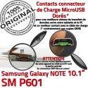 Samsung Galaxy SM-P601 NOTE C Chargeur Qualité Nappe Charge Doré Réparation MicroUSB OFFICIELLE de SM Pen Contact ORIGINAL P601 Connecteur