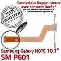 SM-P601 Micro USB NOTE Charge P601 de Qualité OFFICIELLE Galaxy Connecteur MicroUSB Chargeur Doré ORIGINAL Contact Réparation Nappe SM Samsung Pen