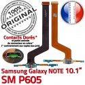 ORIGINAL Samsung Galaxy NOTE SM P605 Pen Connecteur de Charge Chargeur MicroUSB Nappe OFFICIELLE Qualité Contact Doré Réparation