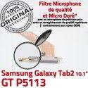 GT-P5113 Micro USB TAB2 Charge Connecteur de Chargeur ORIGINAL GT P5113 Réparation OFFICIELLE Dorés Galaxy Contacts TAB Qualité MicroUSB Nappe Samsung 2