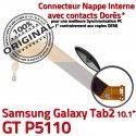 Samsung Galaxy GT-P5110 TAB2 Ch MicroUSB GT TAB Nappe Réparation Qualité ORIGINAL P5110 OFFICIELLE 2 Charge Chargeur Connecteur Contacts Dorés de