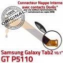 GT-P5110 Micro USB TAB2 Charge Réparation TAB Chargeur Samsung MicroUSB 2 Nappe P5110 Dorés Connecteur Galaxy de Contacts Qualité ORIGINAL OFFICIELLE GT