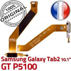 ORIGINAL USB Micro GT Réparation TAB Dorés Charge P5100 Qualité 2 Samsung MicroUSB Connecteur Contacts OFFICIELLE Chargeur TAB2 GT-P5100 Nappe Galaxy de