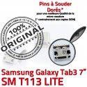 Samsung Galaxy Tab 3 T113 USB Micro Dock de charge inch Pins TAB Prise Dorés Connecteur à SM 7 Connector Chargeur souder ORIGINAL