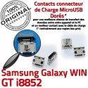 Samsung Galaxy Win i8852 USB GT Pins Dorés Micro de Prise Connector Connecteur à Qualité ORIGINAL Dock Chargeur charge souder
