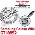 Samsung Galaxy Win GT-i8852 USB Dorés de à Qualité ORIGINAL Dock Fiche Chargeur Pins Connector charge SLOT Prise MicroUSB souder