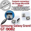 Samsung Galaxy GT-i9082 USB à Dock Qualité Fiche ORIGINAL charge Dorés Chargeur MicroUSB Grand Pins souder de Prise Connector SLOT