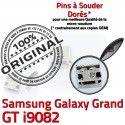 Samsung Galaxy i9082 USB Connector Dock Prise Connecteur Pins Dorés Qualité à de charge souder Micro GT ORIGINAL Grand Chargeur