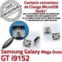 Samsung Galaxy i9152 USB Qualité charge Duos Mega Connector souder Pins GT à Micro Chargeur Prise Connecteur ORIGINAL Dorés de