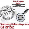 Samsung Galaxy i9152 USB Duos Qualité Pins Chargeur Micro Connecteur Dorés souder GT Prise Mega à charge Connector ORIGINAL de