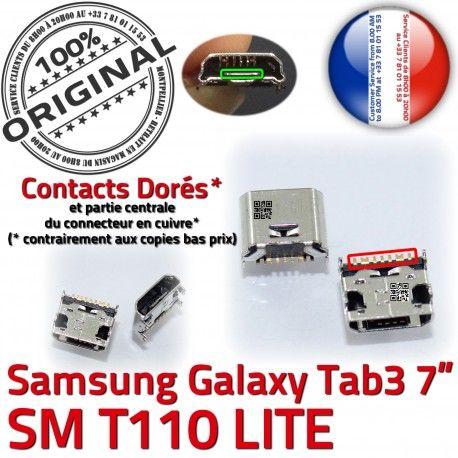 Samsung Galaxy Tab 3 T110 USB ORIGINAL SM Prise Micro TAB Dorés Pins souder de charge Connector à 7 Connecteur Chargeur inch Dock