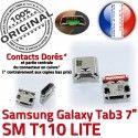 Samsung Galaxy Tab3 SM-T110 USB Prise Pins SLOT souder Chargeur MicroUSB Connector à charge Dorés Dock ORIGINAL Fiche TAB3 Qualité de