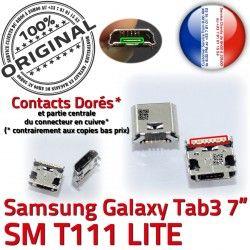 Chargeur Prise ORIGINAL de Pins 7 à Tab Galaxy charge souder Micro inch T111 Connector Dorés Samsung Dock USB SM TAB 3 Connecteur