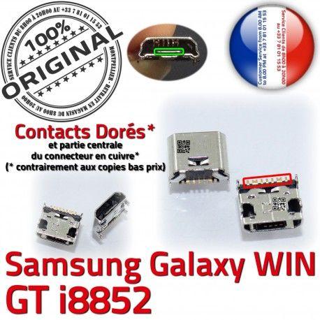 Samsung Galaxy Win i8852 USB Connector GT Qualité souder Dorés charge de ORIGINAL Micro à Prise Dock Connecteur Pins Chargeur