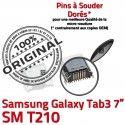 Samsung Galaxy Tab3 SM-T210 USB SLOT Pins Dorés MicroUSB Prise Fiche charge Chargeur de ORIGINAL Dock souder Qualité à Connector TAB3