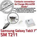 Samsung Galaxy Tab3 SM-T211 USB charge à de Dock souder ORIGINAL SLOT Connector Dorés Pins Chargeur TAB3 Qualité Fiche MicroUSB Prise