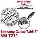 Samsung Galaxy Tab3 SM-T211 USB Prise TAB3 ORIGINAL Connector SLOT Qualité de MicroUSB Dock Chargeur charge Dorés à Pins souder Fiche