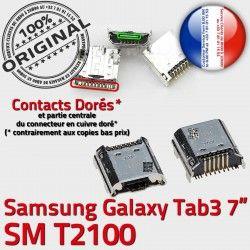 TAB3 USB Pins de Dock Samsung Qualité à Prise Chargeur Tab3 Dorés ORIGINAL charge souder Connector Galaxy Fiche MicroUSB SLOT SM-T2100
