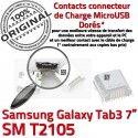 Samsung Galaxy Tab 3 T2105 USB 7 SM Dorés souder de Connecteur inch Prise charge ORIGINAL Pins TAB Dock à Micro Chargeur Connector