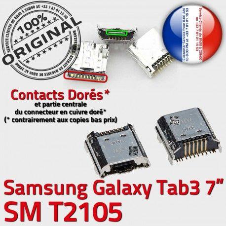 Samsung Galaxy Tab3 SM-T2105 USB Qualité Connector Fiche SLOT MicroUSB Dorés charge souder Chargeur TAB3 de Dock Pins Prise à ORIGINAL