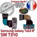 SM-T310 Micro USB TAB3 Charge de Connecteur OFFICIELLE Chargeur SM Galaxy Samsung TAB T310 3 Contacts ORIGINAL Dorés Réparation Qualité Nappe MicroUSB