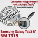 Samsung Galaxy SM-T315 TAB3 Ch Réparation TAB Nappe de Qualité OFFICIELLE Contacts Dorés SM Connecteur Chargeur 3 MicroUSB ORIGINAL T315 Charge