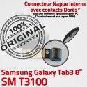 Samsung Galaxy TAB 3 SM-T3100 Ch Chargeur Contacts Charge de Connecteur TAB3 ORIGINAL Nappe OFFICIELLE Dorés Qualité Réparation MicroUSB