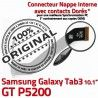 Samsung Galaxy GT-P5200 TAB3 Ch OFFICIELLE Dorés Chargeur Nappe Charge Connecteur P5200 3 MicroUSB GT de ORIGINAL Qualité TAB Contacts Réparation