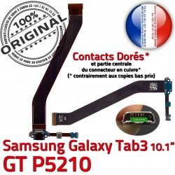 Ch GT-P5210 Chargeur Connecteur TAB Dorés ORIGINAL TAB3 P5210 Samsung Nappe Charge OFFICIELLE Contacts de Qualité GT Galaxy MicroUSB Réparation 3