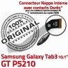 Samsung Galaxy GT-P5210 TAB3 Ch Dorés Réparation 3 MicroUSB Nappe Connecteur Contacts GT TAB de ORIGINAL Qualité Chargeur OFFICIELLE P5210 Charge