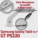Samsung Galaxy GT-P5220 TAB3 Ch TAB Dorés Nappe GT 3 ORIGINAL Réparation Chargeur Qualité OFFICIELLE Connecteur de Charge MicroUSB Contacts P5220