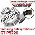 Samsung Galaxy TAB 3 GT-P5220 Ch de Connecteur TAB3 Nappe Contacts Qualité MicroUSB OFFICIELLE Réparation Charge Dorés Chargeur ORIGINAL