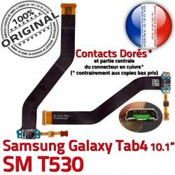 Samsung Micro Galaxy Contacts TAB TAB4 USB SM-T530 OFFICIELLE SM T530 de MicroUSB Réparation Nappe Qualité Connecteur Charge Chargeur ORIGINAL 4 Dorés
