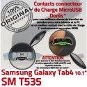 Samsung Galaxy SM-T535 TAB4 Ch TAB T535 Qualité Charge SM Réparation ORIGINAL MicroUSB Connecteur de Contacts OFFICIELLE 4 Dorés Chargeur Nappe