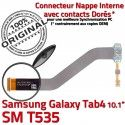 SM-T535 Micro USB TAB4 Charge Qualité Connecteur TAB de Contacts Réparation Galaxy Nappe MicroUSB OFFICIELLE Dorés ORIGINAL Samsung Chargeur 4 SM T535