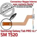 SM-T520 Micro USB TAB PRO Charge Connecteur Nappe Qualité Contact ORIGINAL Samsung de Doré Chargeur T520 SM Réparation OFFICIELLE Galaxy MicroUSB