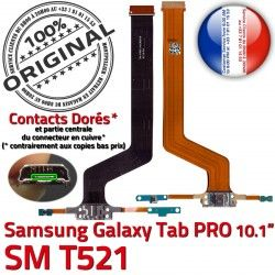 Charge Chargeur TAB MicroUSB SM PRO SM-T521 Doré Nappe Qualité T521 ORIGINAL C Galaxy OFFICIELLE Connecteur de Réparation Contact Samsung