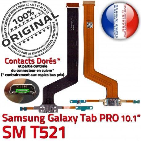 Samsung Galaxy TAB PRO SM-T521 C MicroUSB SM OFFICIELLE Doré Nappe T521 Chargeur ORIGINAL Contact Charge Connecteur Réparation de Qualité